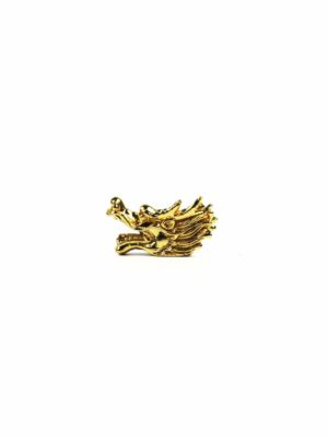 Gold Dragon Head with Short Horns (Big) 1