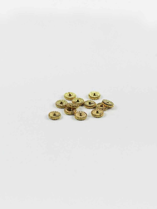 Gold-plated Dotted Flat Beads 1