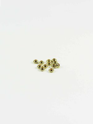 Gold-plated Drum-shaped Beads (5mm) 1