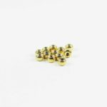 Gold-plated Thick Drum-shaped Beads (6mm) 1