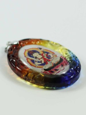 Akasagarbha Buddha Colour-glazed Glass Pendant 2