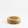 Bamboo Round Incense Burner Box 1