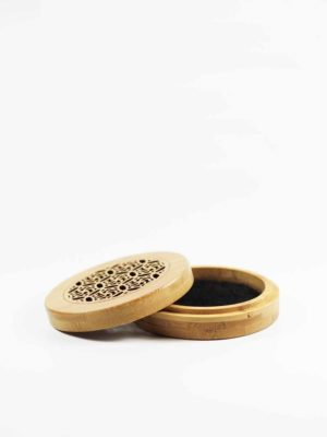 Bamboo Round Incense Burner Box 2