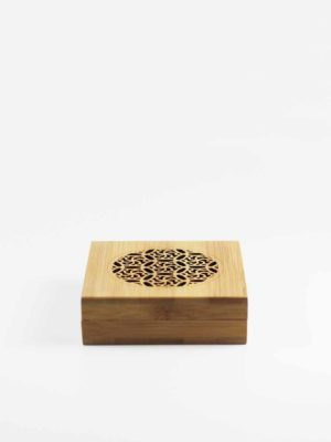 Bamboo Square Incense Burner Box 1