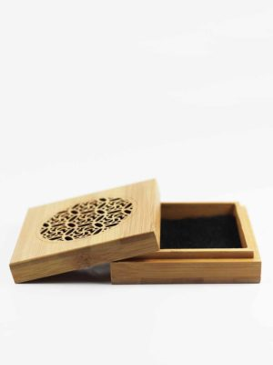 Bamboo Square Incense Burner Box 2