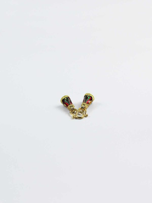 Hand-painted Gold-plated Pendant S Hook 1