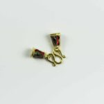 Hand-painted Gold-plated Pendant S Hook 3