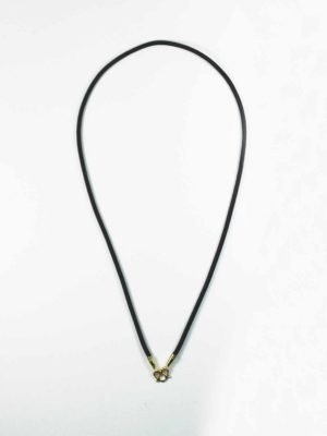 Black Nylon String One Hook Amulet Necklace in Gold (66cm) 1