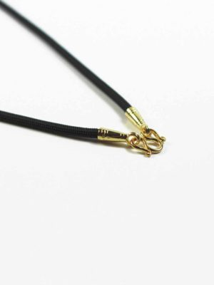 Black Nylon String One Hook Amulet Necklace in Gold (66cm) 2