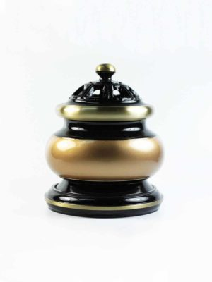 Black and Gold Incense Burner (Medium) 1