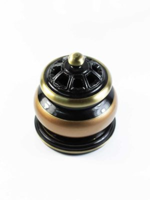 Black and Gold Incense Burner (Small) 2
