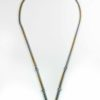 Gold and Silver Stainless Steel Five Hooks Amulet Necklace (74cm) 1