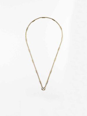 Gold-plated Stainless Steel Cylinder Tube Chain One Hook Thai Amulet Necklace (46cm) 1