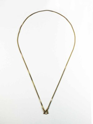 Gold-plated Stainless Steel Edged Chain One Hook Thai Amulet Necklace (64cm) 1
