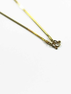 Gold-plated Stainless Steel Edged Chain One Hook Thai Amulet Necklace (64cm) 2
