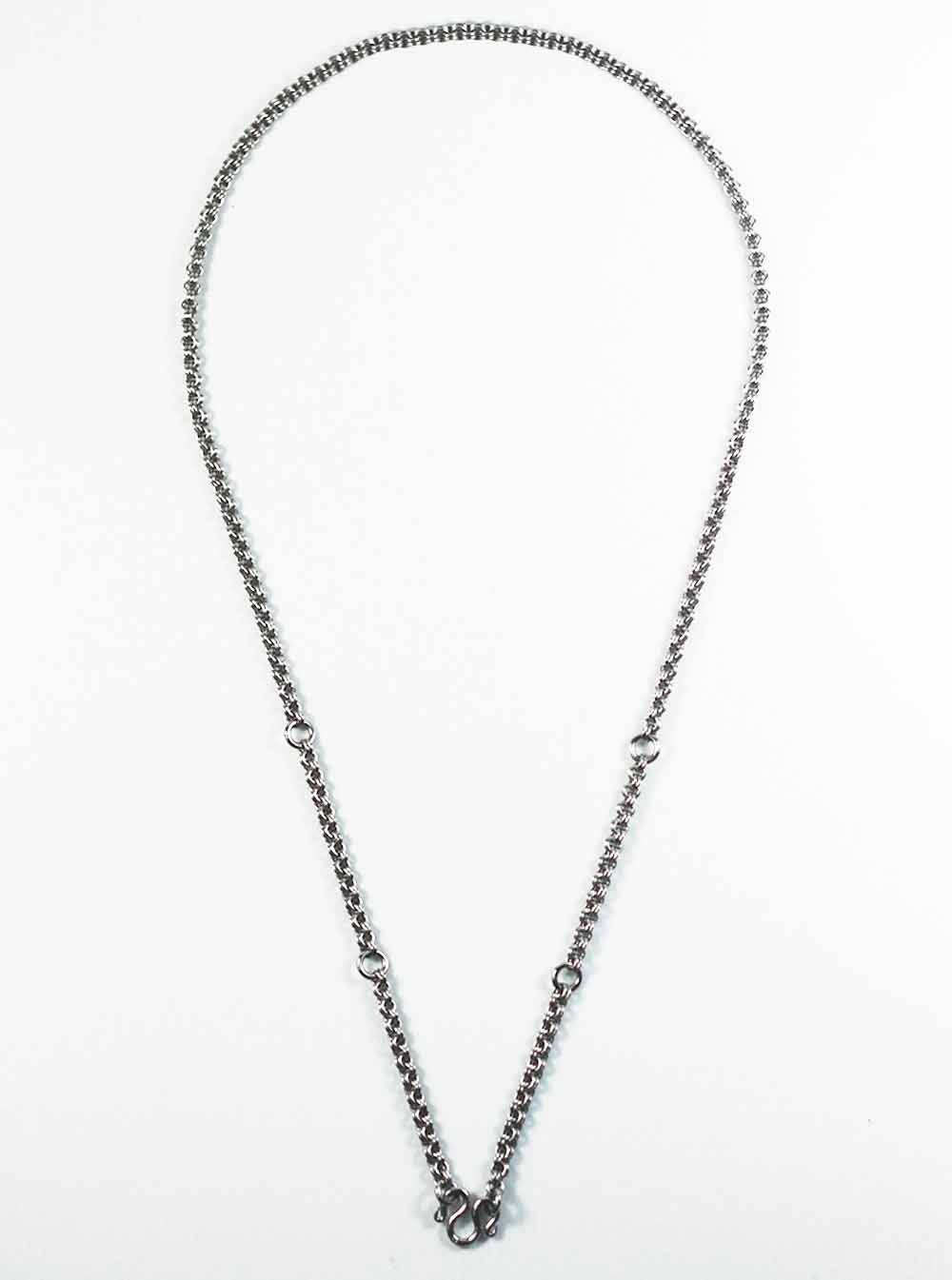 Stainless steel double ring chain five hooks thai amulet necklace stainless steel double ring chain five hooks thai amulet necklace 71cm 1 aloadofball Choice Image