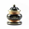 The Great Compassionate Mantra Black and Gold Incense Burner (Medium) 1