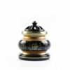 The Great Compassionate Mantra Black and Gold Incense Burner (Small) 1