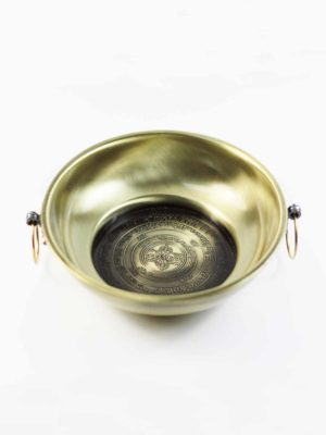Copper Smoke Offering Burner Plate (Gold) 2