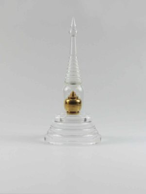 Glass Tower Stupa with Inner Brass Mini Stupa 1