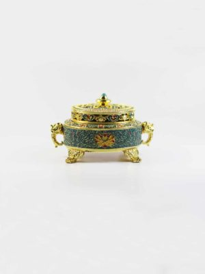 Hand-painted Gold-plated Incense Burner 1