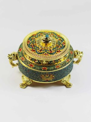Hand-painted Gold-plated Incense Burner 2