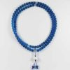 Colour-glazed Blue Glass Mala 108 Beads (8mm) 1