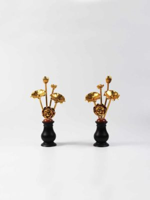 Gold Lotus Pair (13.5cm) 1