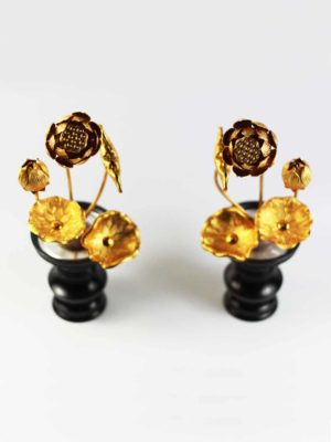 Gold Lotus Pair (21cm) 2