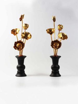 Gold Lotus Pair (24.5cm) 1