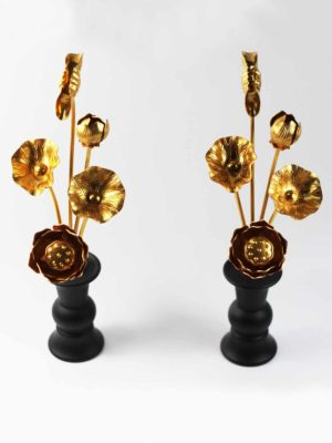 Gold Lotus Pair (24.5cm) 2