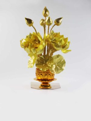 Golden Fabric Lotus Bouquet 1