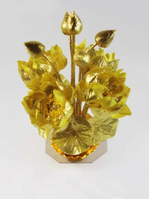 Golden Fabric Lotus Bouquet 2