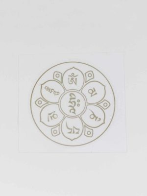 Six-syllables Mantra Sticker (Gold) 1