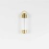 Gold Screw Cap Glass Tube Pendant (5.2cm) 1