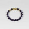 Amethyst Bracelet with Gold-plated Pixiu 1