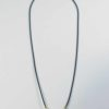 Black Nylon String One Hook Amulet Necklace with Cow Bone Beads (65cm) 1
