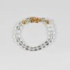 Clear Quartz Bracelet with Gold-plated Pixiu 1
