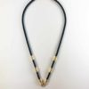 Black Nylon String One + One Hooks Amulet Necklace in Gold (61cm) 1