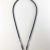 Black Nylon String Three Hooks Amulet Necklace in Silver (66cm) 1