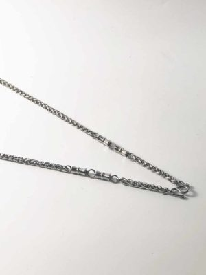 Stainless Steel Rounded Chain Three Hooks Amulet Necklaces (71cm) 2