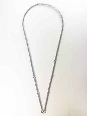 Stainless Steel Squarish Chain Seven Hooks Amulet Necklace (76cm) 1