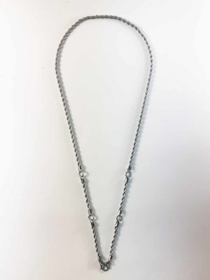 Stainless Steel Twisted Chain 5 Hooks Amulet Necklace (71cm) 1