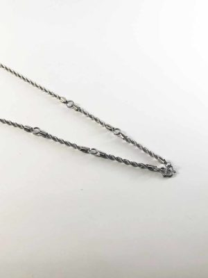 Stainless Steel Twisted Chain 5 Hooks Amulet Necklace (71cm) 2