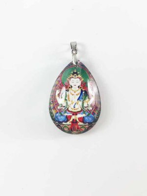 Four-armed Guanyin Teardrop Pendant 1