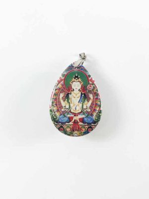 Four-armed Guanyin Teardrop Pendant 2