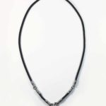 Black Nylon String Three + One Hooks Amulet Necklace in Silver (66cm) 1