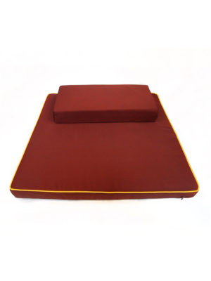2-Pieces Large Meditation Cushion in Reddish Brown II