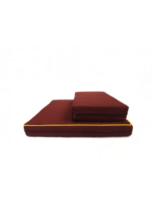 2-Pieces Meditation Cushion in Reddish Brown III