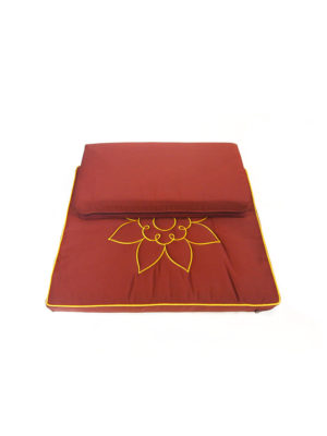 2-Pieces Meditation Cushion with Lotus Embroidery II